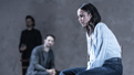 Tom Hiddleston as Robert, Charlie Cox as Jerry and Zawe Ashton as Emma in Betrayal.