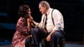 Barbara Garrick as Lady Bird Johnson and Brian Cox as Lyndon B. Johnson in The Great Society.
