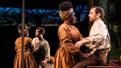 Joaquina Kalukango as Kaneisha and Paul Alexander Nolan as Jim in Slave Play.