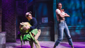 Jonathan Groff as Seymour and Joy Woods as Chiffon in Little Shop of Horrors.