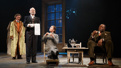 John Glover as Gaev, Joel Grey as Firs, Diane Lane as Lyubov Ranevskaya and Chuck Cooper as Pischik in The Cherry Orchard.