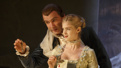 Elena Kampouris as Cécile Volanges and Liev Schreiber as Le Vicomte de Valmont in Les Liaisons Dangereuses.
