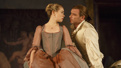 Birgitte Hjort Sørensen as Madame de Tourvel and Liev Schreiber as Le Vicomte de Valmont in Les Liaisons Dangereuses.