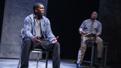 Khris Davis as Chris and Lance Coadie Williams as Evan in Sweat.