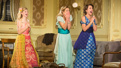 Anna Baryshnikov as Carol, Charlotte Perry as Kay and Anna Camp as Hazel in Time and the Conways.