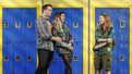 Grey Henson as Damien, Barrett Wilbert Weed as Janis and Erika Henningsen as Cady in Mean Girls.