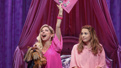Kerry Butler as Mrs George and Erika Henningsen as Cady in Mean Girls.