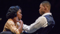 Kristolyn Lloyd as Pumpkin and J. Alphonse Nicholson as Blue in Paradise Blue.