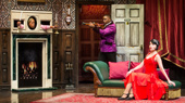 Angela Grovey, Yaegel T. Welch & Jamie Ann Romero in The Play That Goes Wrong