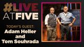 Broadway.com #LiveatFive with Adam Heller, Tom Souhrada and Christian Borle of Popcorn Falls