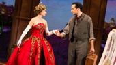 Lila Coogan (Anya) & Stephen Brower (Dmitry) in the national tour of Anastasia, photo by Evan Zimmerman
