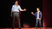 Joe Barbara (Sonny) & Frankie Leoni (Young C) in the national tour of A Bronx Tale, photo by Joan Marcus