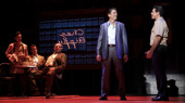 Joe Barbara (Sonny), Richard H. Blake (Lorenzo) & the touring company of A Bronx Tale, photo by Joan Marcus