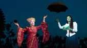 Jody Gelb as Madame Morrible & Jackie Burns as Elphaba in Wicked