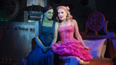 Jackie Burns as Elphaba & Kara Lindsay as Glinda in Wicked
