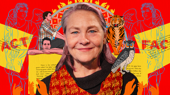 The Lifespan of a Fact's Cherry Jones on Her 'Delicious' Co-Stars & More on Show People