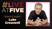 Broadway.com #LiveatFive with Luke Cresswell of Stomp