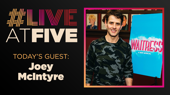 Broadway.com #LiveatFive with Joey McIntyre of Waitress