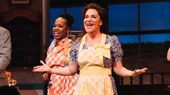 Shoshana Bean takes her first bow as Jenna in Waitress.