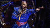 Michael James Scott as Genie in Aladdin.