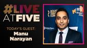Broadway.com #LiveatFive with Manu Narayan of Merrily We Roll Along