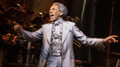 André De Shields as Hermes in Hadestown.