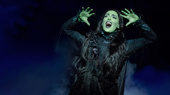 Hanna Corneau as Elphaba in Wicked.