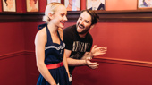 See Sophia Anne Caruso Celebrate Her Sardi's Caricature with the Beetlejuice Family