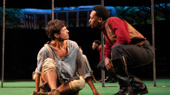 James Cusati-Moyer as Dustin and Ato Blankson-Wood as Gary in Slave Play.