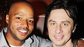 Paging Zach Braff! Donald Faison Visits His Scrubs Buddy at Bullets