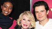 Joan Rivers Shares a Flirty Backstage Visit With Romeo and Juliet's Condola Rashad & Orlando Bloom