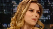 Cat Star Scarlett Johansson Talks Filling Elizabeth Taylor's 'Big Shoes' on Jimmy Fallon