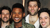 OMG! Pop Star Usher Thrills to the Acrobatic Spectacular Traces