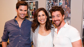 A trio of greats: Andrew Rannells. Stephanie J. Block and Christian Borle get together.