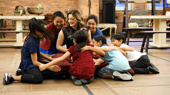 "Cuteness overload! Laura Michelle Kelly and her sweet kid cast perform ""Getting To Know You."""