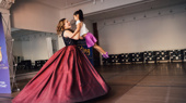 Shall we dance? It's not even a question with these two! Laura Michelle Kelly and adorable, pint-sized Rylie Sickles of The King and I national tour float across the floor.