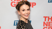 She's a brass band! Two-time Tony winner Sutton Foster beams on her opening night in Sweet Charity.