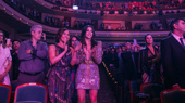 Original Broadway cast stars Andrea Burns and Ana Villafañe cheer on the national tour cast.