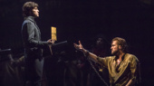 Josh Davis as Javert and Nick Cartell as Jean Valjean in Les Miserables