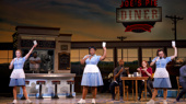 Desi Oakley, Charity Angel Dawson & Lenne Klingaman in the national tour of Waitress, photo by Joan Marcus