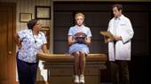 Maiesha McQueen, Desi Oakley & Bryan Fenkart in the national tour of Waitress, photo by Joan Marcus