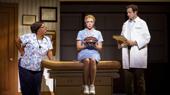 Maiesha McQueen, Desi Oakley & Bryan Fenkart in the national tour of Waitress, photo by Joan Marcus