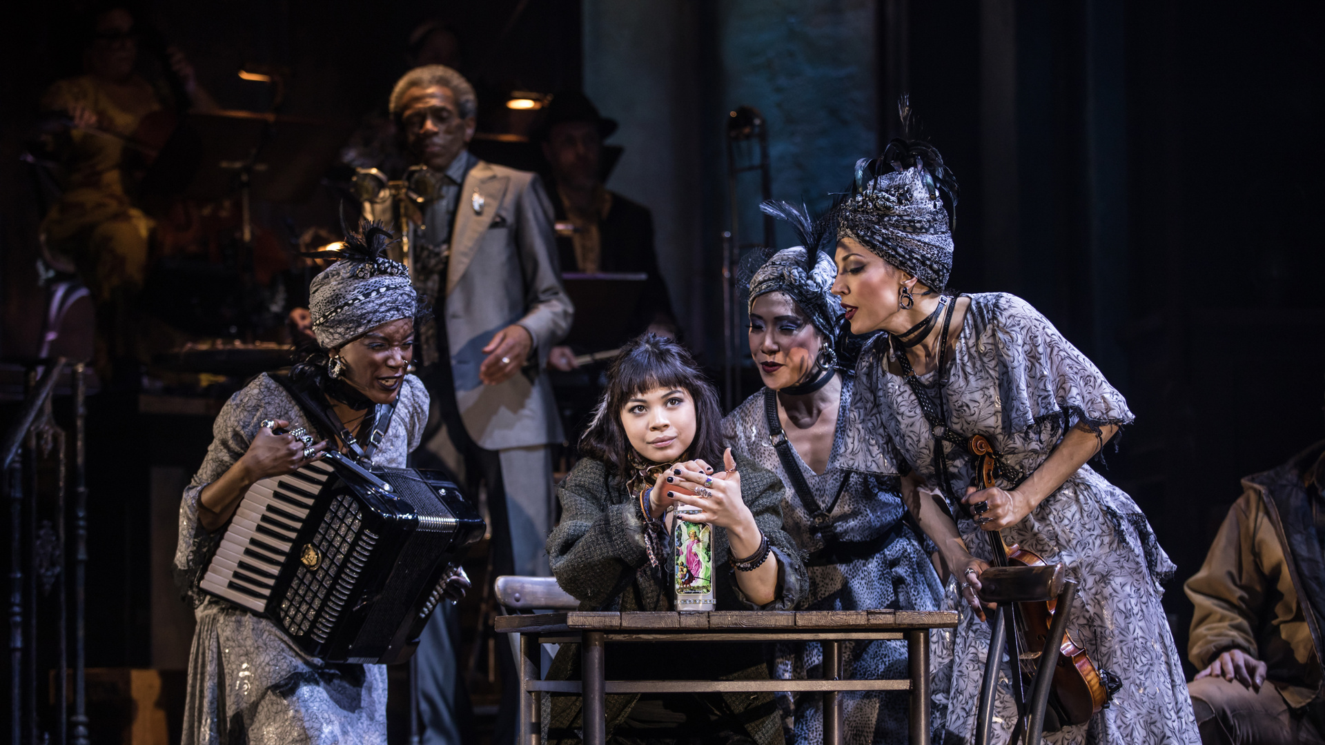 Image result for hadestown fates