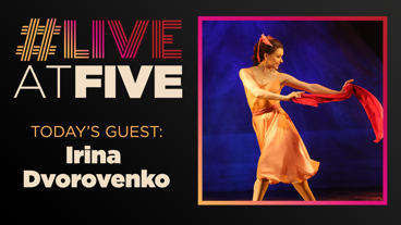 Broadway.com #LiveatFive with Irina Dvorovenko of <i>The Beast in the Jungle</i>