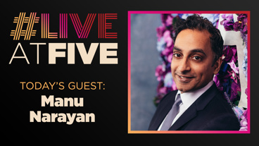 Broadway.com #LiveatFive with Manu Narayan of Gettin' the Band Back Together