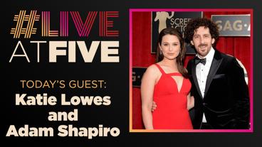 Broadway.com #LiveatFive with Katie Lowes and Adam Shapiro of Waitress