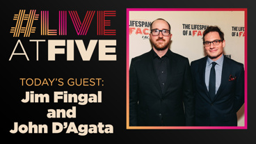 Broadway.com #LiveatFive with Jim Fingal and John D'Agata of The Lifespan of a Fact