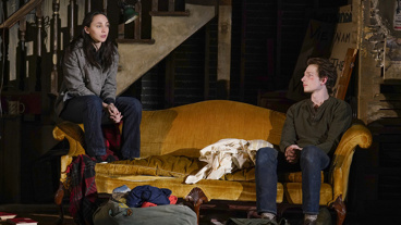Lauren Patten as Jenny and Mike Faist as Spence in Days of Rage.