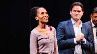 American Son lead Kerry Washingtona at opening night curtain call.