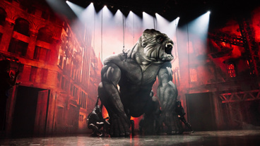 King Kong wows the audience at curtain call.